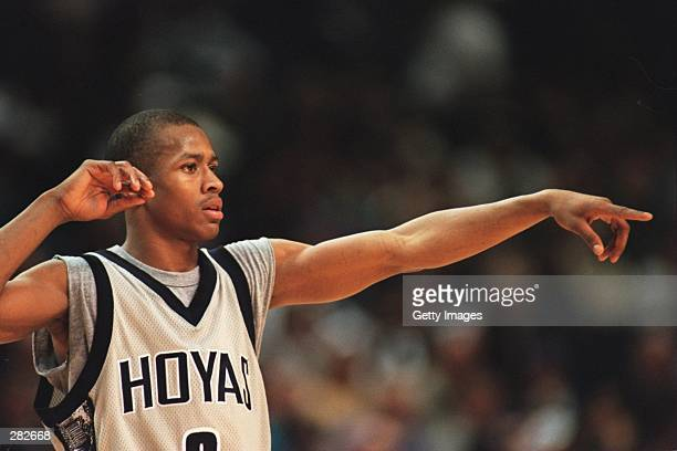 ALLEN IVERSON OF GEORGETOWN ON COURT DURING THE 8871 WIN OVER ST JOHN''S