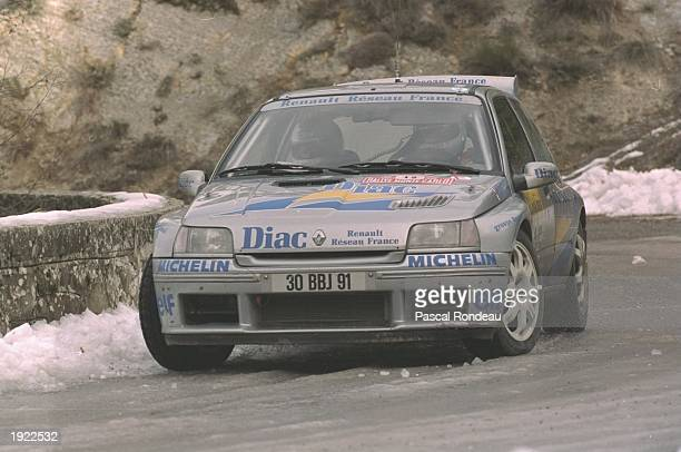 Philippe Bugalski of France in action in his Renault during the Monte Carlo Rally in Monaco Mandatory Credit Pascal Rondeau/Allsport