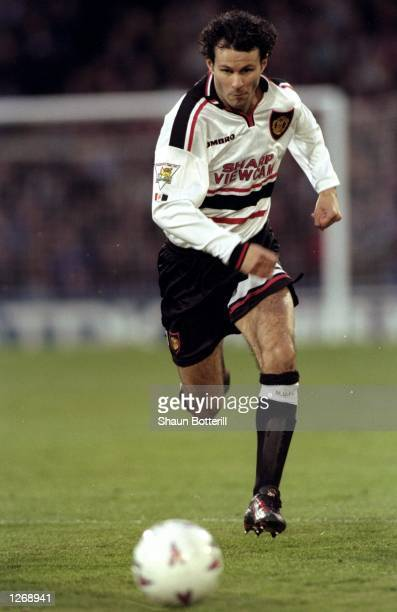 Ryan Giggs of Manchester United in action during an FA Carling Premiership match against Crystal Palace at Selhurst Park in London Manchester United...
