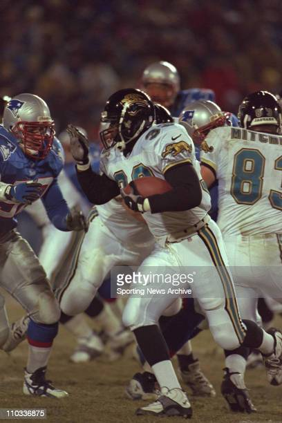 James Stewart of the Jacksonville Jaguars during the Jags 206 loss to the New england Patriots in the AFC Championship Game