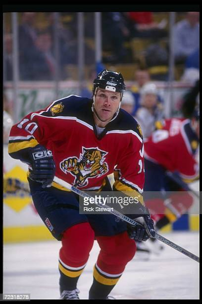 Leftwinger Dave Lowry of the Florida Panthers moves down the ice during a game against the Buffalo Sabres at Memorial Auditorium in Buffalo New York...
