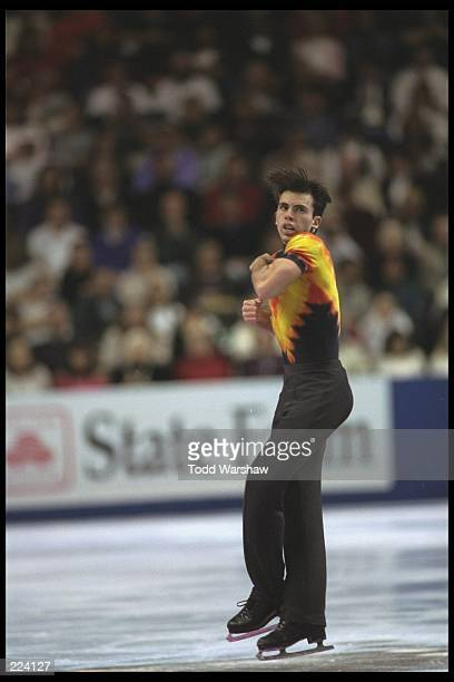 Michael Weiss performs during the National Figure Skating Championship held at the San Jose Arena in San Jose California Mandatory Credit Todd...