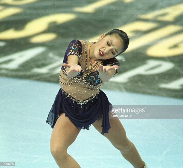 Michelle Kwan, of Torrance CA, performs in the women''s free skate at the U.S. Figure Skating Championships at San Jose Arena in San Jose,...
