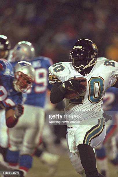 Natrone Means of the Jacksonville Jaguars during the Jags 206 loss to the New england Patriots in the AFC Championship Game