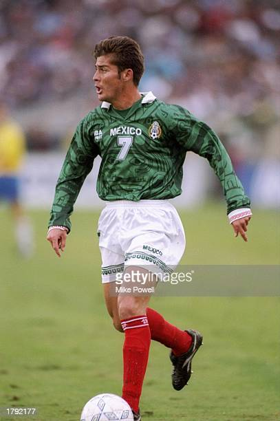 Ramon Ramirez of Mexico stands on the field during a Gold Cup game against Brazil at the Los Angeles Memorial Coliseum in Los Angeles California...