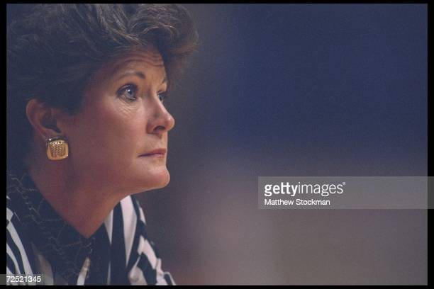 University of Tennessee head coach Pat Summitt looks on during a game against Alabama played in Knoxville Tennessee Tennessee won the game 8169...