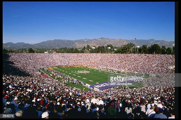 View of the Rose Bowl between the Northwestern Wildcats and the Southern California Trojans in Pasadena, California. Southern California won the game...