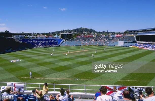General view of Eden Park taken during the first test between New Zealand and England at Eden Park in Auckland, New Zealand. Mandatory Credit: Graham...