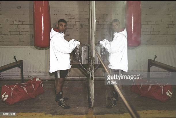 Boxer Prince Naseem Hamed of Great Britain in training for his upcoming world title fight against Tom Johnson of the USA Mandatory Credit Al Bello...