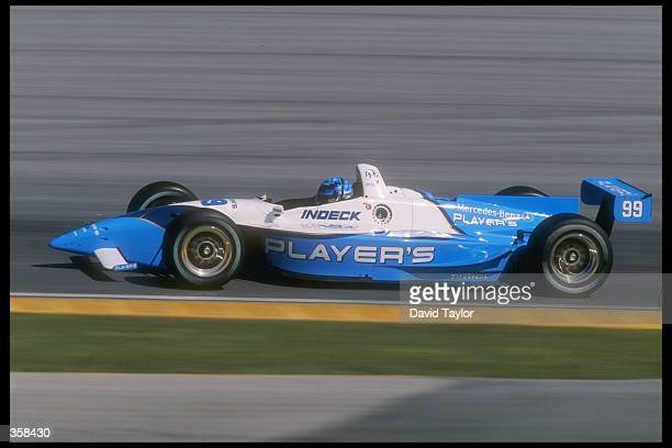 CART driver Greg Moore of Canada driving for team Forsythe Racing in action in the Lola Mercedes T9700 during spring testing at the Homestead...