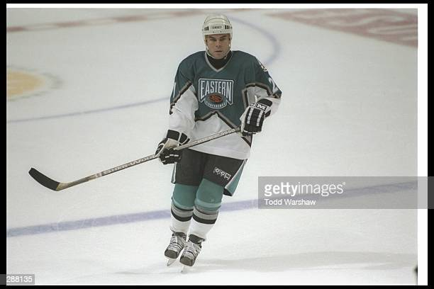 Center Adam Oates of the Boston Bruins skates into position during the 47th NHL AllStar game at the San Jose Arena in San Jose California The team...