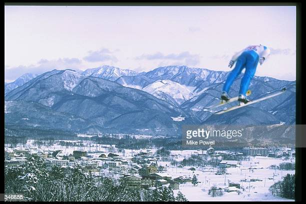 General view of a World Cup nordic combined event in Hakuba, Japan. Mandatory Credit: Mike Powell /Allsport
