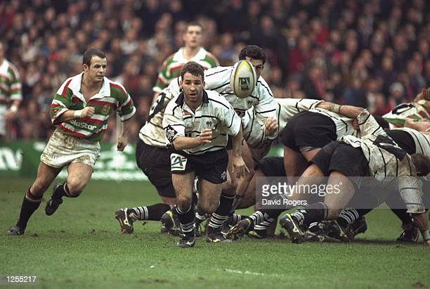Philippe Carbonneau of Brive in action during the Heineken European cup final between Leicester and Brive at the Arms Park in Cardiff Wales Brive won...