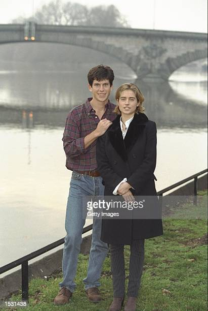 Tim Henman with girlfriend Lucy Heald by the River Thames in London Mandatory Credit Allsport /Allsport