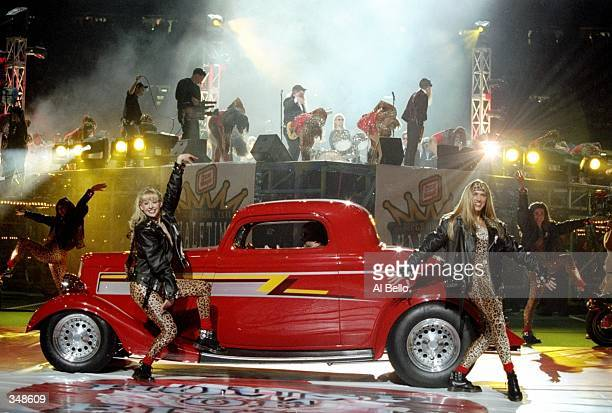 ZZ Top arrives for the halftime show for Super Bowl XXXI between the New England Patriots and the Green Bay Packers at the Superdome in New Orleans...