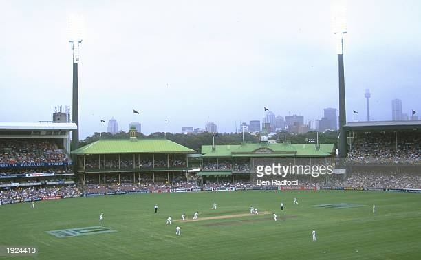 General view of action from the second test match between Australia and South Africa at the Sydney Cricket Ground in Sydney, Australia. Australia won...