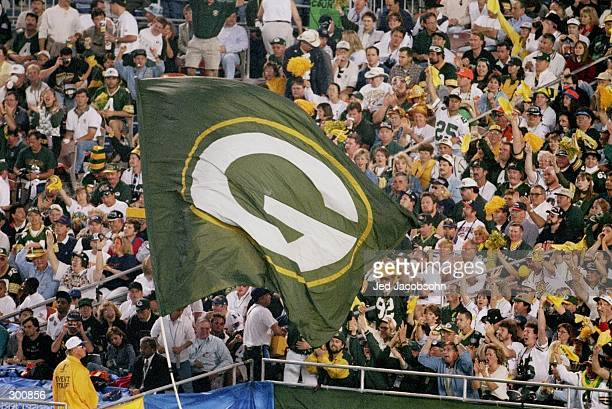 Green Bay Packers Fans during Super Bowl XXXII against the Denver Broncos at Qualcomm Stadium in San Diego California The Denver Broncos defeated the...