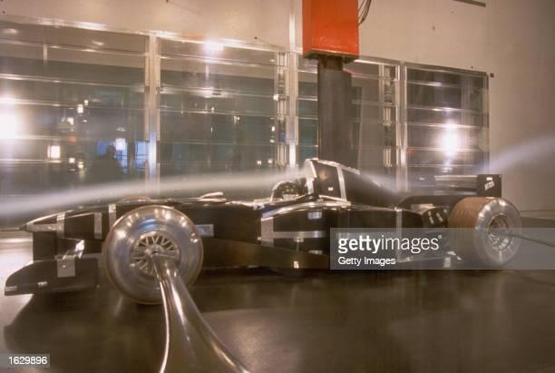 The new F300 1998 Ferrari Formula One car tested in the wind tunnel at Maranello Italy Mandatory Credit Allsport UK /Allsport