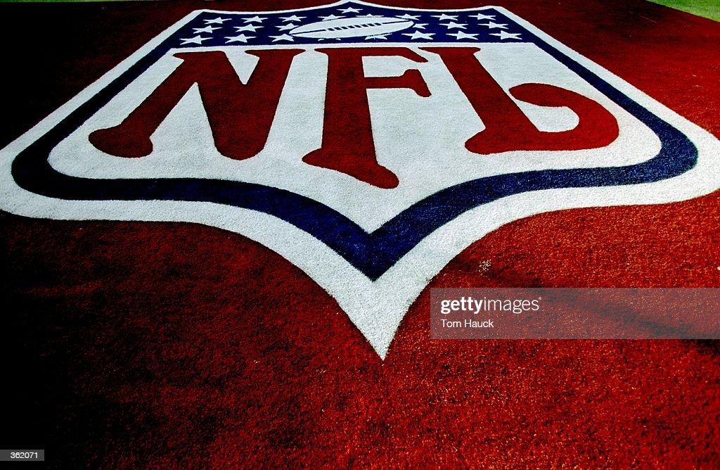 NFL Endzone Logo : News Photo