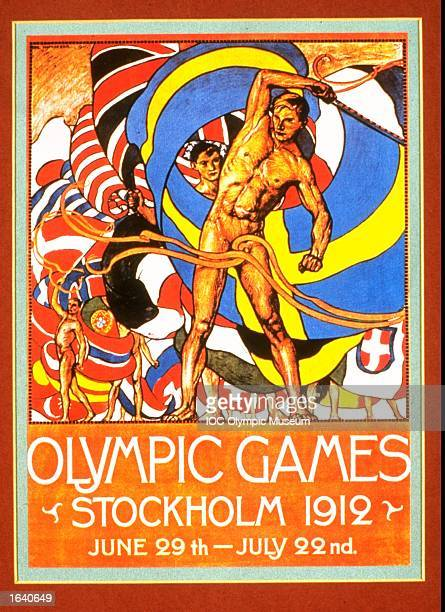 An offical poster from the 1912 Stockholm Olympic Games on display at the IOC Olympic Museum in Lausanne Switzerland Mandatory Credit IOC Olympic...