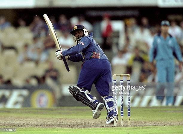 Aravinda De Silva of Sri Lanka in action during a Carlton United One Day Series match in Australia Mandatory Credit Clive Mason /Allsport