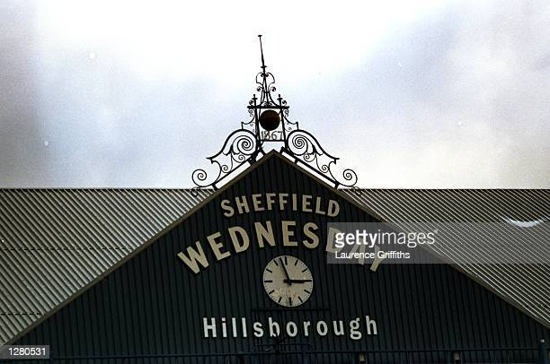 General view of the clock at Hillsborough in the FA Carling Premiership match between Sheffield Wednesday and Tottenham Hotspur in Sheffield England...