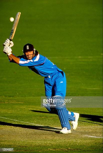 Graeme Hick of England in action during a Carlton & United One Day Series match in Brisbane, Australia. \ Mandatory Credit: Stu Forster /Allsport