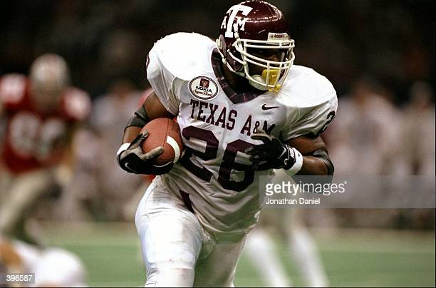 Ja''Mar Toombs of the Texas AM Aggies carries the ball during the Sugar Bowl against the Ohio State Buckeyes at the Superdome in New Orlean Louisiana...