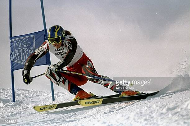 John MoulderBrown of Great Britain races in the Mens Downhill event at the British Land National Ski Championships in Tignes France Mandatory Credit...