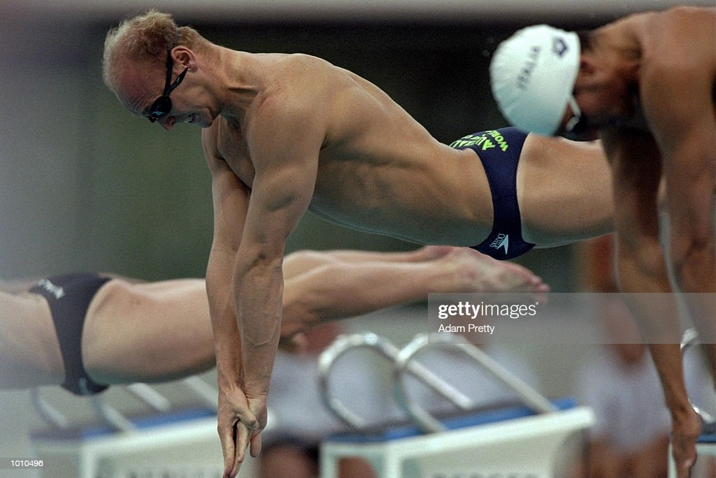Phil Rogers of Australia in action during the 1999 FINA World Cup at the Sydney International Aquatic Centre, Homebush, Sydney, Australia. \ Mandatory Credit: Adam Pretty /Allsport