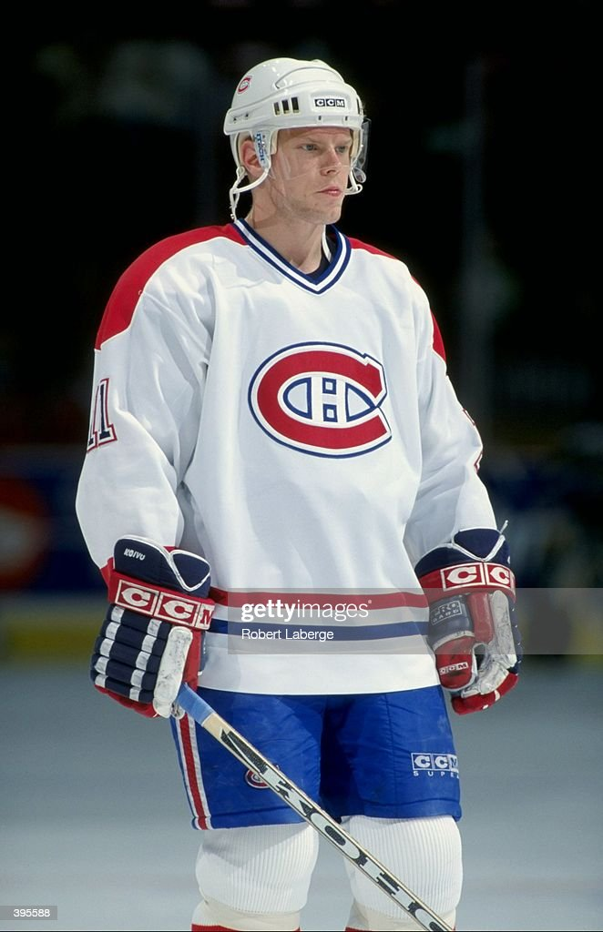 a0ad24aeb Saku Koivu of the Montreal Canadiens looking on during the game ...