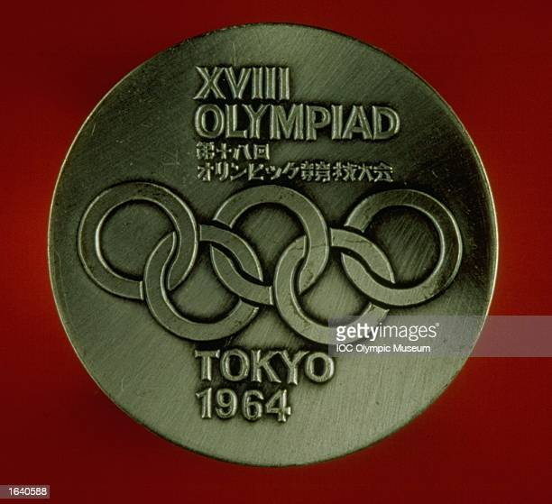The commemorative medal from the 1964 Tokyo Olympic Games on display at the IOC Olympic Museum in Lausanne Switzerland Mandatory Credit IOC Olympic...