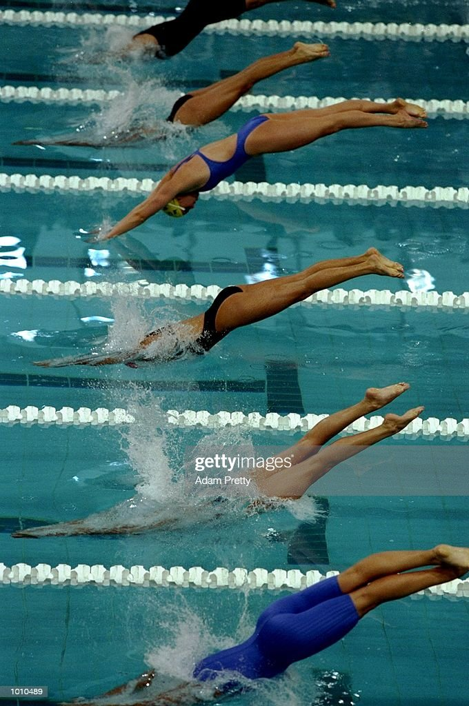 The start of the Womens 200m Freestyle during the 1999 FINA World Cup at the Sydney International Aquatic Centre, Homebush, Sydney, Australia. \ Mandatory Credit: Adam Pretty /Allsport