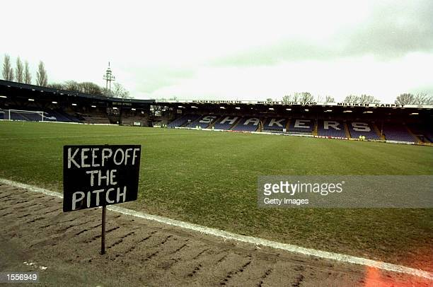 A general view of Gigg Lane the home of Bury before their Nationwide Division Two match against Bristol City The game ended goalless Picture by Paul...