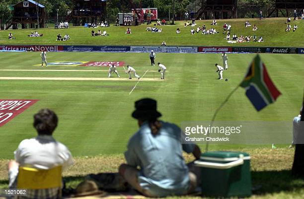 Fans watch the action as the sun comes out on the Fifth and final day of the fifth test against South Africa at Centurion Park, South Africa....