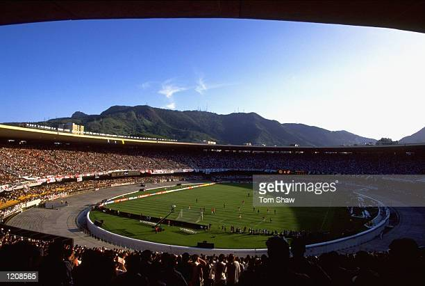 General view of the Maracana Stadium during the FIFA Club World Championship group B match between Vasco da Gama and Manchester United in Rio de...