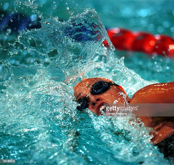 Hayley Lewis of Australia in action during the Womens 800 Metres Freestyle at the Queensland State Swimming Championships held at the Chandler...