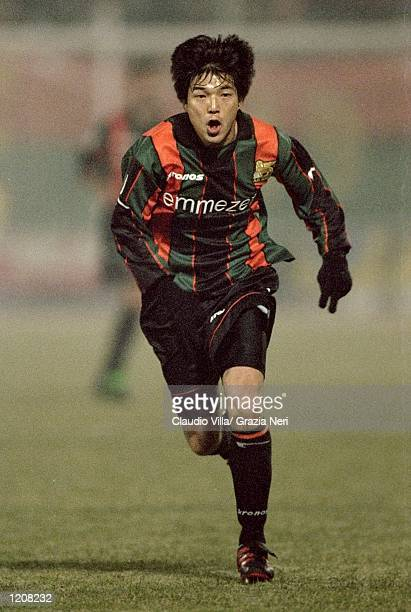Hiroshi Nanami of Venezia in action during the Serie A match against Lazio played at the Pialugi Penzo Stadium in Venice, Italy. Venezia won the game...