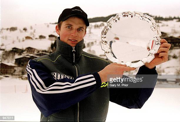 John MoulderBrown lifts a trophy during the British National Skiing Championships in Saalbach Austria Mandatory Credit Gary M Prior/Allsport