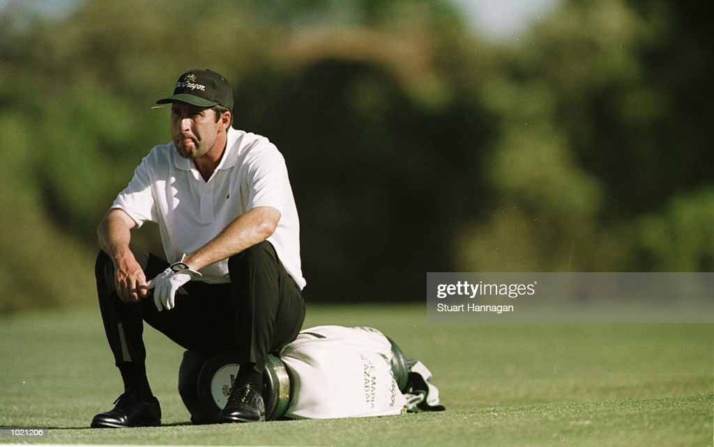 Jose Maria Olazabal of Spain is dejected as he fails to make the cut during the second round of the Heineken Classic 2000 golf played at The Vines Golf Course, Perth, Australia. Mandatory Credit: Stuart Hannagan/ALLSPORT