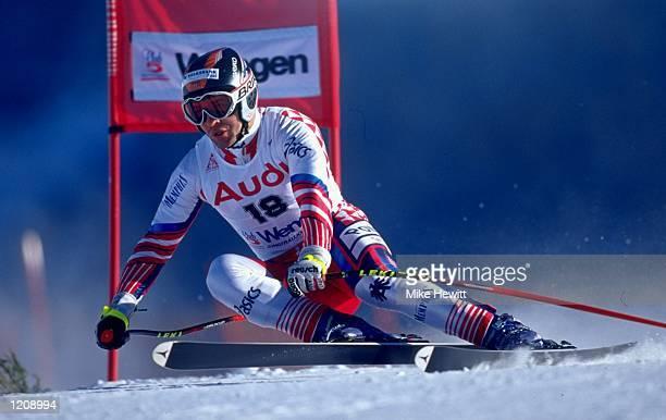 Josef Strobl of Austria in action during the World Cup Skiing held in Wengen Switzerland Mandatory Credit Mike Hewitt /Allsport