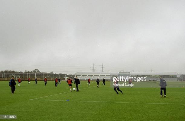Manchester United's new training ground complex in Carrington Manchester Mandatory Credit Michael Steele /Allsport