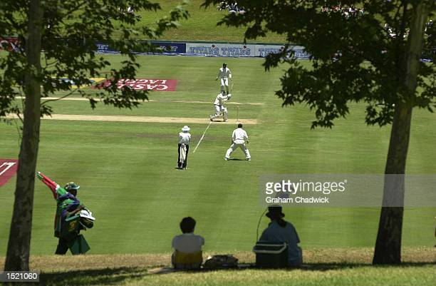 Mark Boucher of South Africa in action as the sun comes out on the Fifth and final day of the fifth test against South Africa at Centurion Park,...