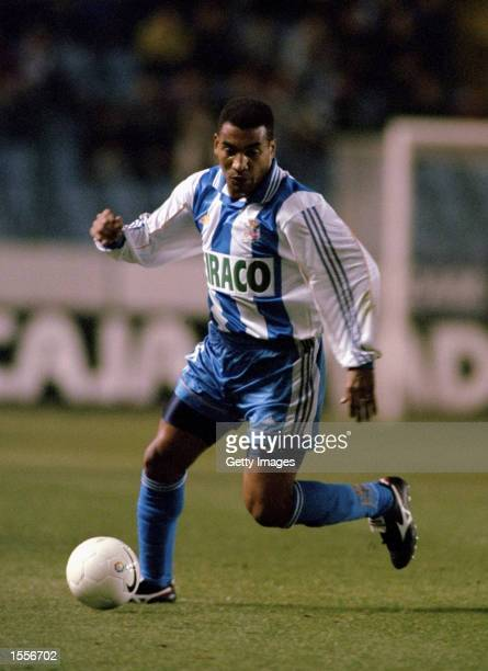 Mauro Silva of Deportivo La Coruna in action during the Spanish Primera Liga match against Real Betis played at the Estadio Municipal de Riazor in La...