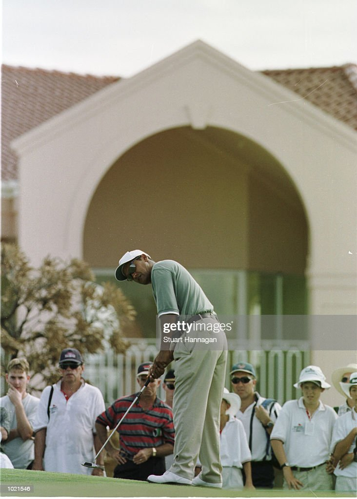 Michael Campbell of New Zealand in action whilst recording 14 under par for the day during the third round of the Heineken Classic 2000 golf played at The Vines Golf Course, Perth, Australia. Mandatory Credit: Stuart Hannagan/ALLSPORT