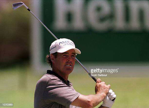 Mike Clayton of Australia in action during the second round of the Heineken Classic 2000 golf played at The Vines Golf Course Perth Australia...