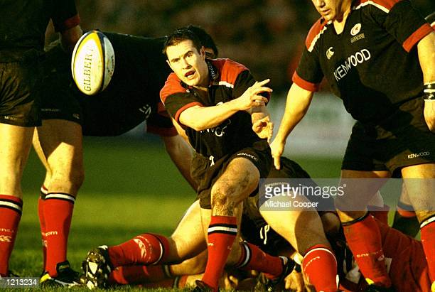 Nick Walshe of Saracens in action during the Heineken Cup Pool 4 match against Munster at Thomond Park in Munster Ireland Munster won 3130 Mandatory...