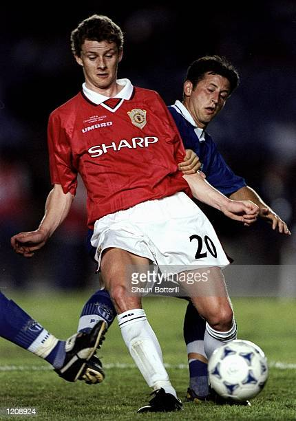Ole Gunnar Solskjaer of Manchester United in action during the World Club Championships against South Melbourne played at the Maracana Stadium in Rio...