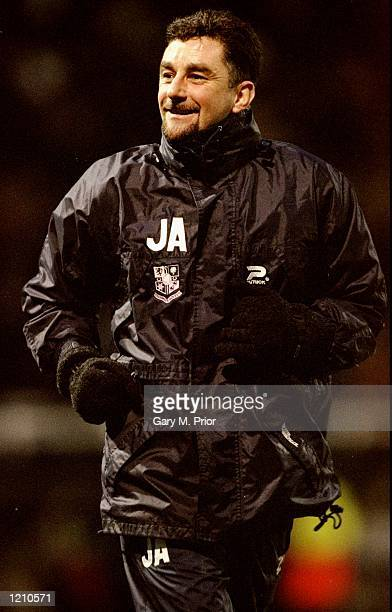 Tranmere Rovers manager John Aldridge celebrates victory over Fulham in the AXA FA Cup fifth round match at Craven Cottage in London Tranmere won 21...