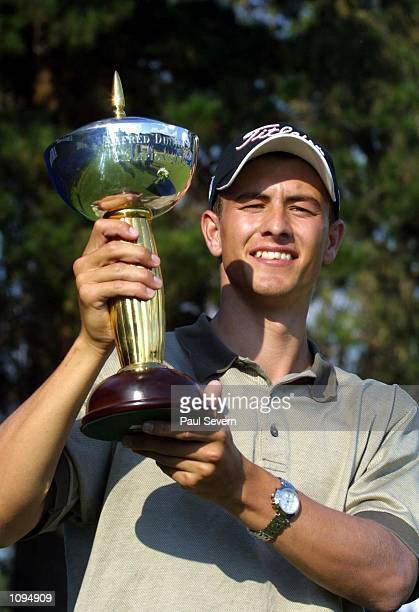 Adam Scott of Australia with the trophy after winning the Alfred Dunhill Championship at Houghton GC in Johannesburg South Africa Digital Mandatory...